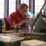 scientific glass worker